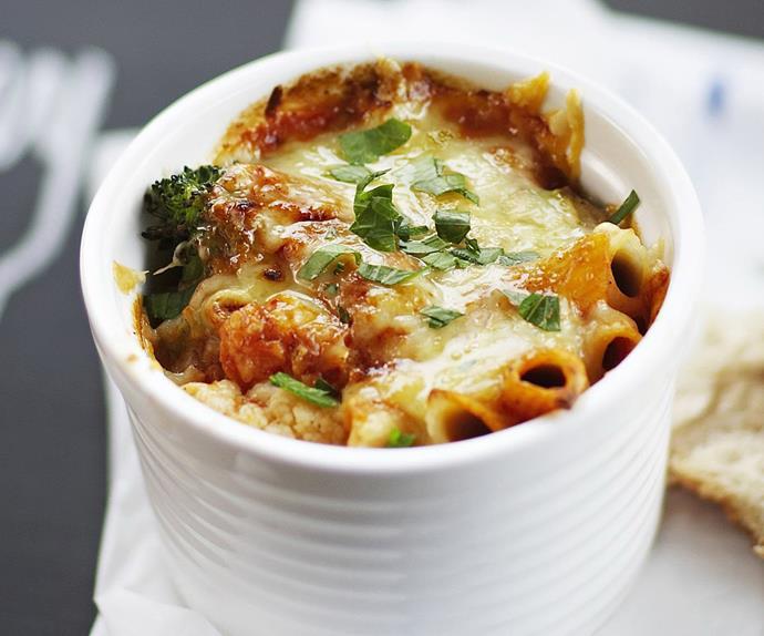 cheesy-vegie pasta bake