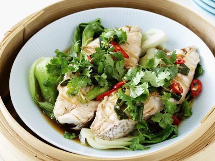 steamed fish with chilli and ginger