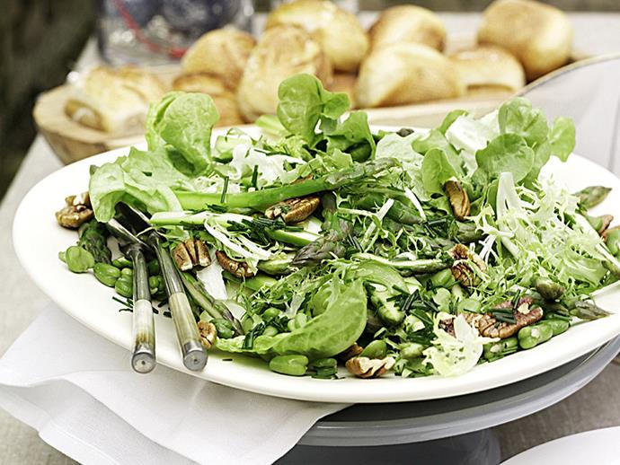 """**[Asparagus and broad bean salad](http://www.womensweeklyfood.com.au/recipes/asparagus-and-broad-bean-salad-15108