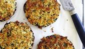 Roast stuffed mushrooms