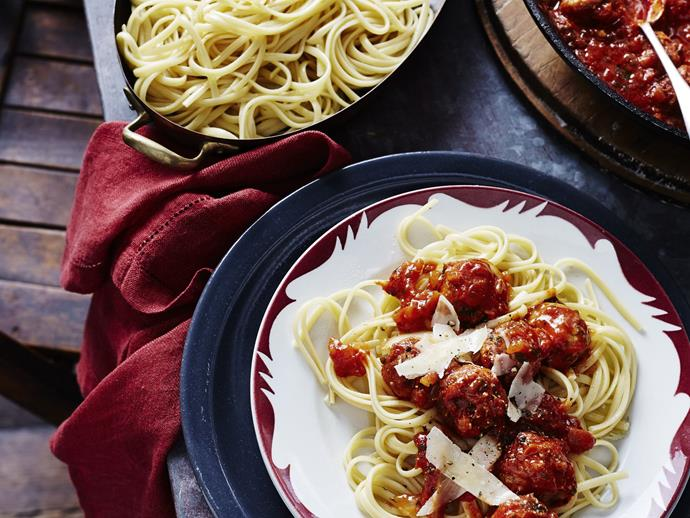 "**[Pork and veal meatballs with fennel](https://www.womensweeklyfood.com.au/recipes/pork-and-veal-meatballs-with-fennel-4211|target=""_blank"")**  This simple Italian meal is great for dinner, using only a handful of ingredients to make a delicious and filling dish."