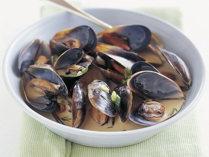 """**[Cream of mussel soup](https://www.womensweeklyfood.com.au/recipes/cream-of-mussel-soup-15114