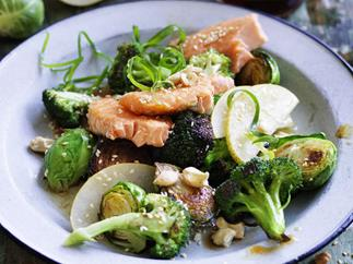 broccoli & ocean trout salad