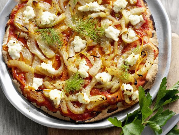 """[Fennel and ricotta pizza](https://www.womensweeklyfood.com.au/recipes/fennel-and-ricotta-pizza-9991