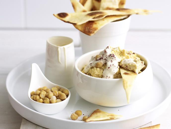 "[Spiced chickpea and yoghurt dip recipe.](https://www.womensweeklyfood.com.au/recipes/spiced-chickpea-and-yogurt-dip-9996|target=""_blank"")"