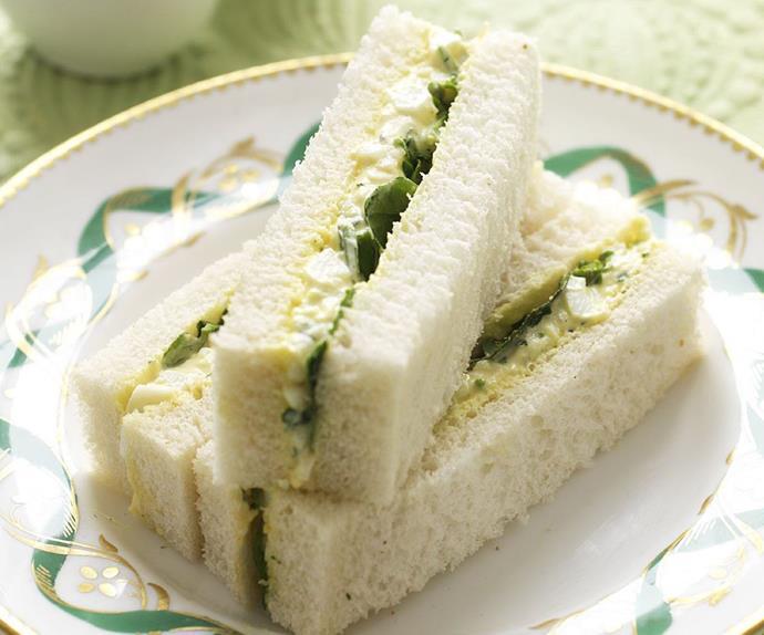 creamy egg & watercress sandwiches