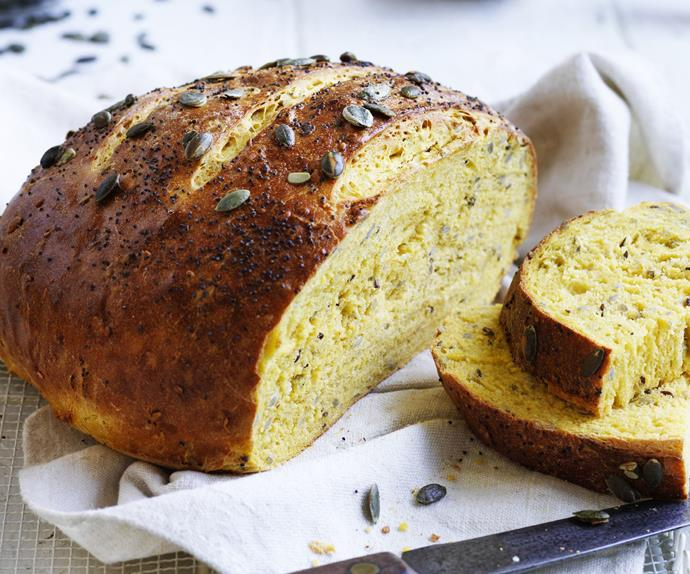 seeded pumpkin bread