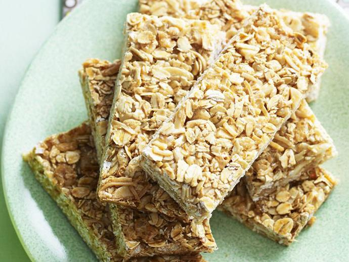 "These [honey and coconut muesli bars](https://www.womensweeklyfood.com.au/recipes/honey-and-coconut-muesli-bars-15117|target=""_blank"") are the perfect energy packed snack for school lunch boxes. For a crispy result bake for a little longer. If you like a chewier bar, then take them out of the oven slightly early."