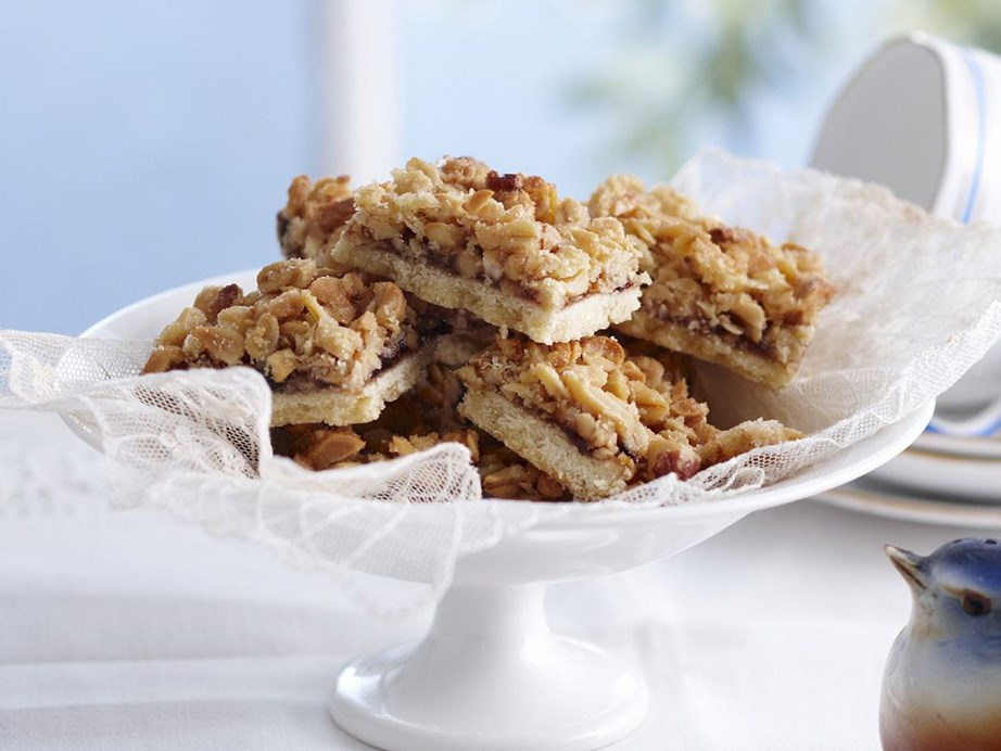 "With a crunchy oat top and sweet jam filling this **[peanut, plum and oat slice](https://www.womensweeklyfood.com.au/recipes/peanut-plum-and-oat-slice-4034|target=""_blank"")** won't last long."