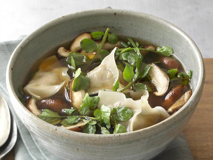"**[Pork and vegetable wonton soup](https://www.womensweeklyfood.com.au/recipes/pork-and-vegetable-wonton-soup-3801|target=""_blank"")**"