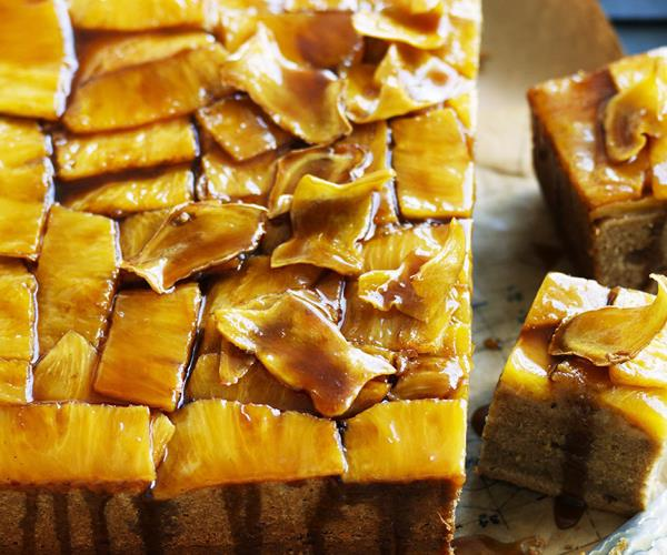 Upside-down Pineapple And Ginger Sour Cream Cake Recipe