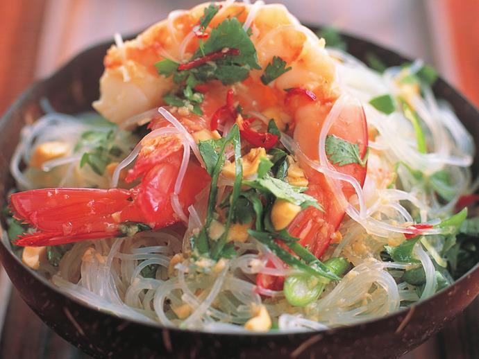 "**[Cold prawn salad](https://www.womensweeklyfood.com.au/recipes/cold-prawn-salad-9693|target=""_blank"")**"