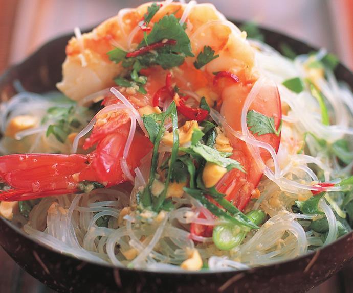 cold prawn salad