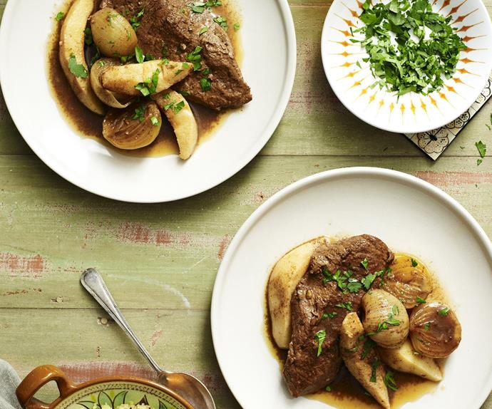 veal, quince and caramelised onion tagine