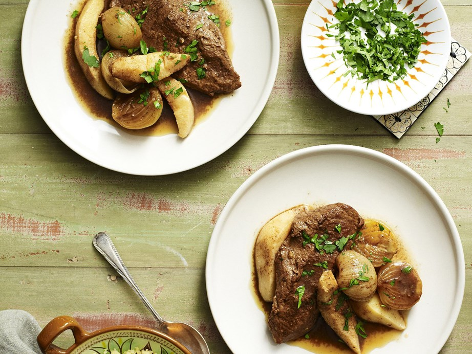 """[This veal, quince and caramelised onion](https://www.womensweeklyfood.com.au/recipes/veal-quince-and-caramelised-onion-tagine-15132