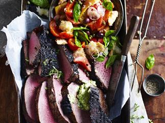 BARBECUEDBEEFRUMP WITHPANZANELLASALAD