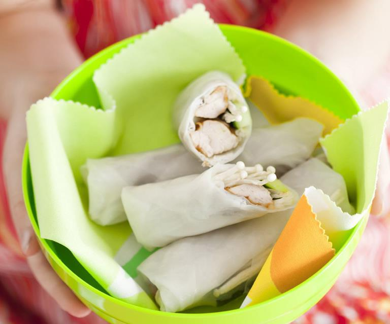 Teriyaki Chicken Rice Paper Rolls Australian Women S Weekly Food