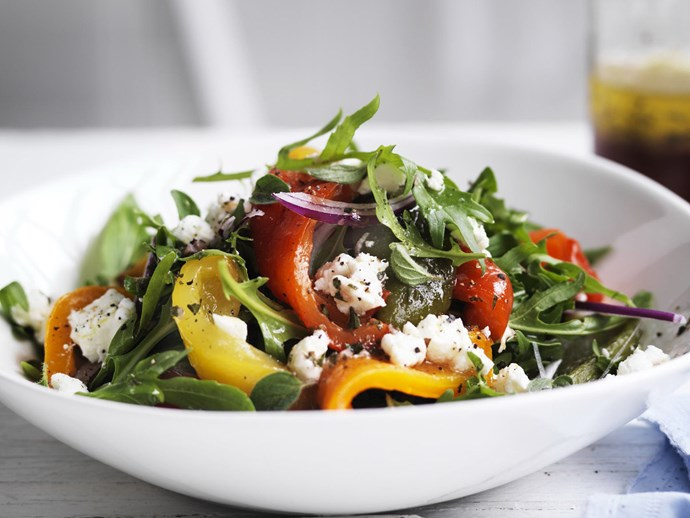 ROASTED CAPSICUM AND GOAT'S CHEESE SALAD