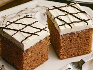 CHOCOLATE FROSTED SPICY GINGER CAKE