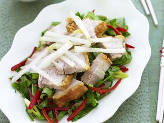 pork belly and nashi salad