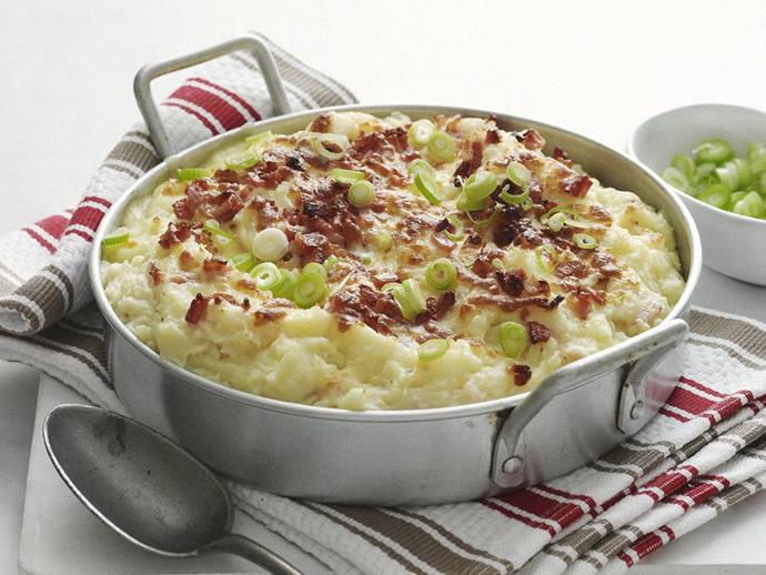 """You'll never have plain old mashed potato again after this delicious [bacon and cheesy potato bake](https://www.womensweeklyfood.com.au/recipes/mashed-potato-and-bacon-bake-3876