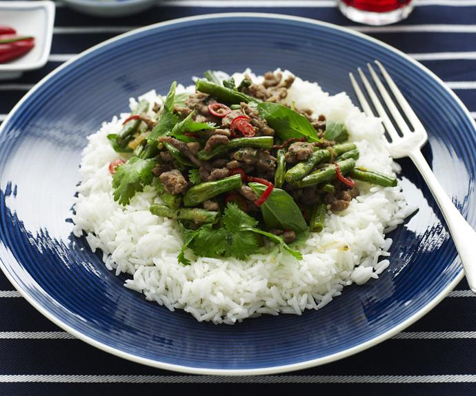 lamb with snake beans