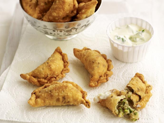 "Perfect for an after school snack, lunch box or finger food, these [potato samosas](https://www.womensweeklyfood.com.au/recipes/potato-samosas-15152|target=""_blank"") are packed full of goodness and flavour. If you're lucky enough to have any leftover, they freeze beautifully."
