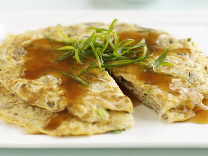 """**[Chinese omelettes](https://www.womensweeklyfood.com.au/recipes/chinese-omelettes-9303 target=""""_blank"""")**  It's something special."""