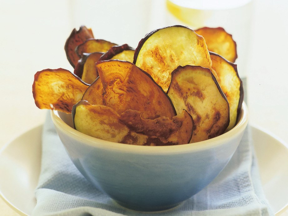 "Thin slices of eggplant make ideal [eggplant chips](https://www.womensweeklyfood.com.au/recipes/eggplant-crisps-15155|target=""_blank"") - just salt, pat dry and shallow fry!"