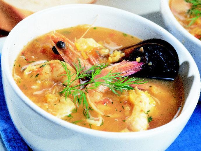 "**[Spicy seafood bouillabaisse](https://www.womensweeklyfood.com.au/recipes/spicy-seafood-bouillabaisse-3958|target=""_blank"")**"