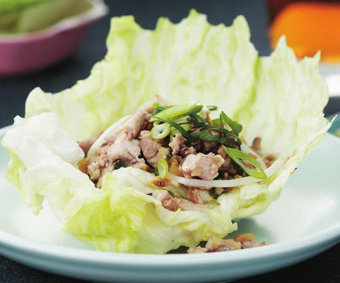 pork and chicken sang choy bow
