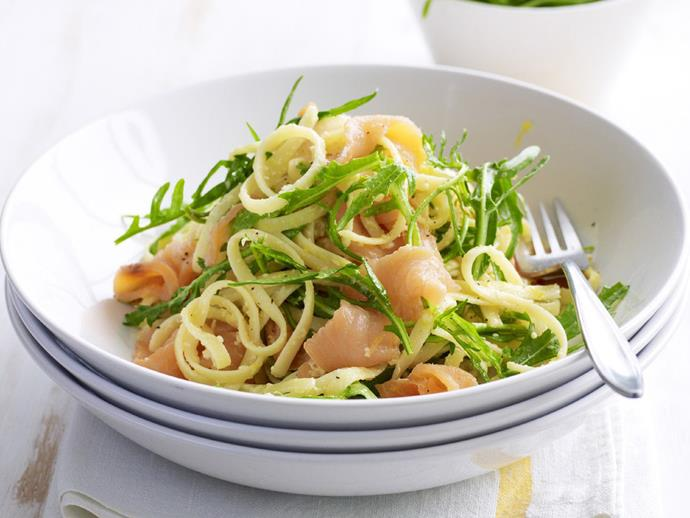 """**[Linguine with smoked salmon and rocket](https://www.womensweeklyfood.com.au/recipes/linguine-with-smoked-salmon-and-rocket-9356