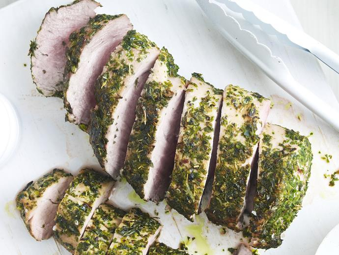 """**[Greek-style pork fillet](https://www.womensweeklyfood.com.au/recipes/greek-style-pork-fillet-3980