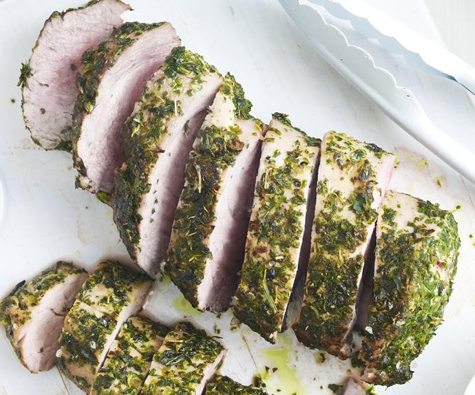 greek-style pork fillet