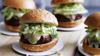 Beef and bacon sliders