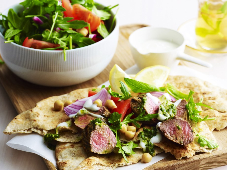 "This [chermoulla lamb and chickpea salad recipe](https://www.womensweeklyfood.com.au/recipes/chermoulla-lamb-with-chickpea-salad-9397|target=""_blank"") is a simple and delicious dish for lunch or dinner."