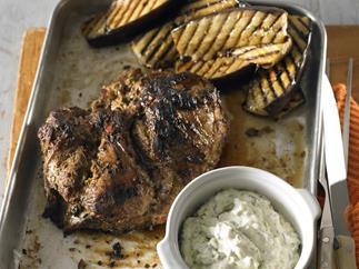 barbecued tandoori lamb