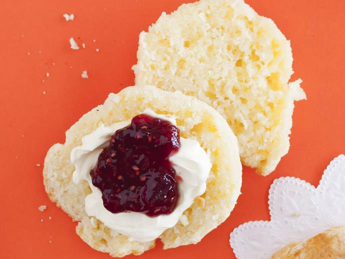 "**[Potato scones](https://www.womensweeklyfood.com.au/recipes/potato-scones-3613|target=""_blank"")**  This gluten-free recipe uses mashed potato and gluten-free flour to create a light and fluffy scone."