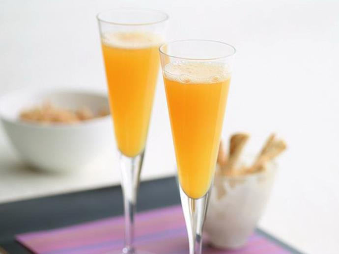 "**[Mango bellini](https://www.womensweeklyfood.com.au/recipes/mango-bellini-9486|target=""_blank"")**  Give your bubbles a little tropical twist with these delicious mango cocktails. Cheers!"
