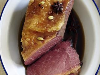pot-roasted asian corned beef