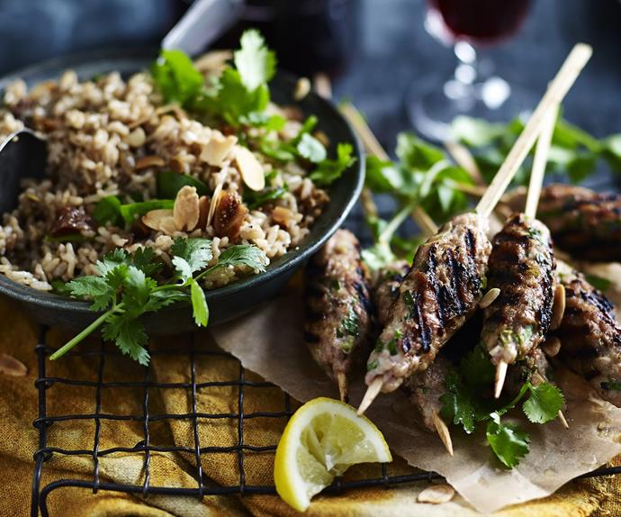 CHICKEN KOFTAS WITH FIG & SEED PILAF