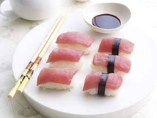 Hand-moulded sushi