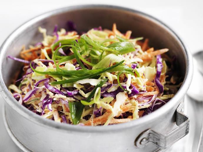 "No barbecue is complete without a good [coleslaw](https://www.womensweeklyfood.com.au/recipes/coleslaw-8979|target=""_blank"")."