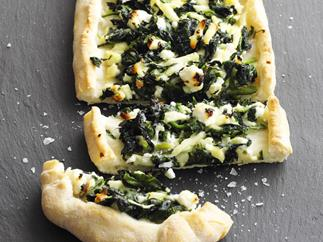 Spinach and fetta pide