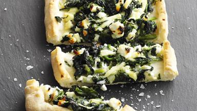 Spinach and feta pide
