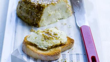 Dukkah-crusted baked ricotta