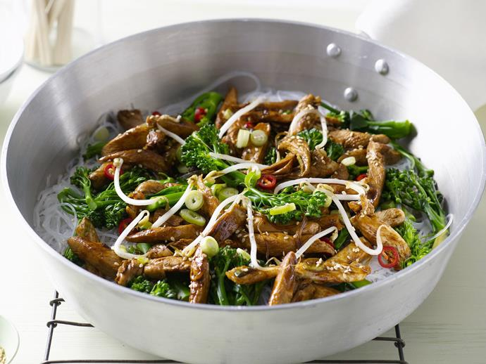 "**[Sesame chicken stir-fry](https://www.womensweeklyfood.com.au/recipes/sesame-chicken-stir-fry-3700|target=""_blank"")**"