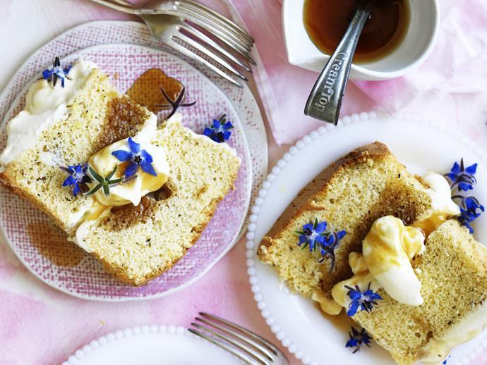 "**[Lemon and earl grey chiffon syrup cake](https://www.womensweeklyfood.com.au/recipes/lemon-and-earl-grey-chiffon-syrup-cake-3708|target=""_blank"")**"