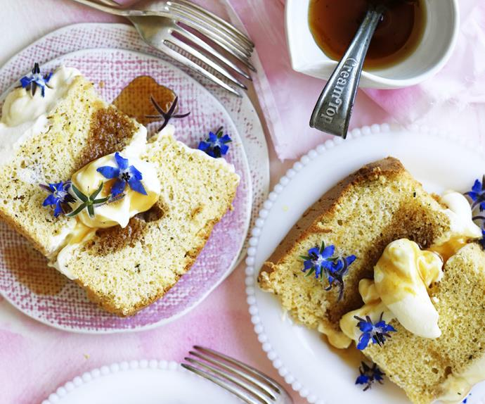 Lemon and earl grey CHIFFON SYRUP CAKE