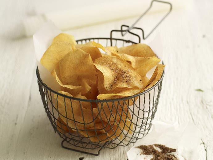 "Because what's not to love about [deep-fried potato crisps](https://www.womensweeklyfood.com.au/recipes/deep-fried-potato-crisps-9057|target=""_blank"")?!"